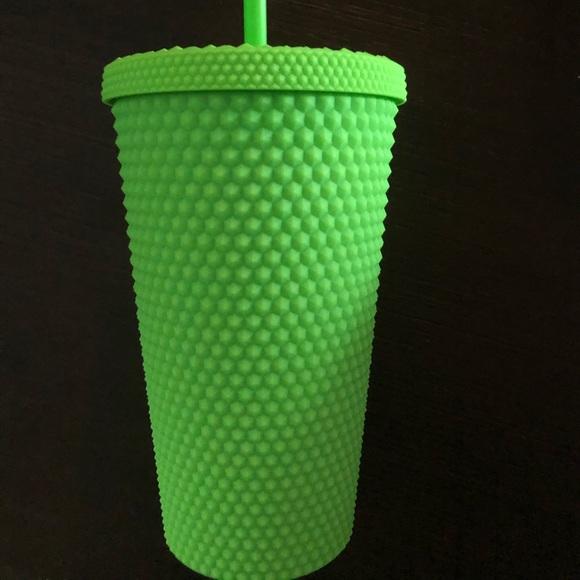 Starbucks Neon Green Studded Tumbler